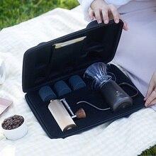 Timemore taşınabilir paket manuel damla kahve makinesi hediye kutu seti Outing taşınabilir demlemek cezve mini kahve öğütücüsü percolator