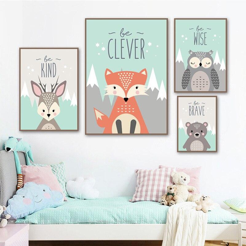 5D Diamant Malerei Cartoon Tier Kaninchen Bär Fuchs Eule Bohren Voll Platz/Runde Kreuz Stich Kinder Zimmer Dekoration