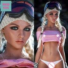 157 センチメートル (5.15ft) シリコーン現実的な人形かわいい女の子小さな胸とハチウエストセックスのおもちゃ実質価格特別な