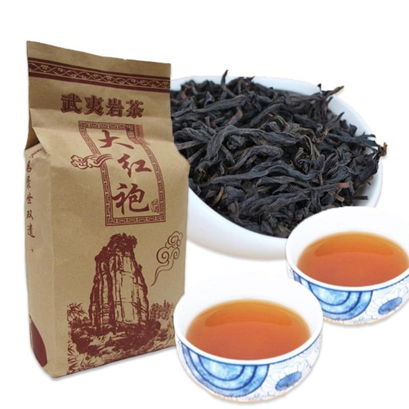 250g Black Tea China Big Red Robe Oolong Tea The Original Wuyi Red Tea For Health Care Hong Pao Vacuum Packaging Kraft Paper Bag