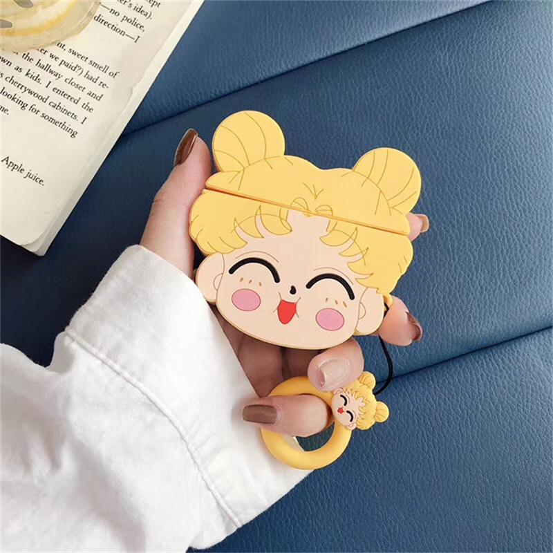 Cute Sailor Moon Bluetooth Earphone Case For Apple Airpods Accessories Cartoon Silicone Headphone Case Box For Airpods Cover