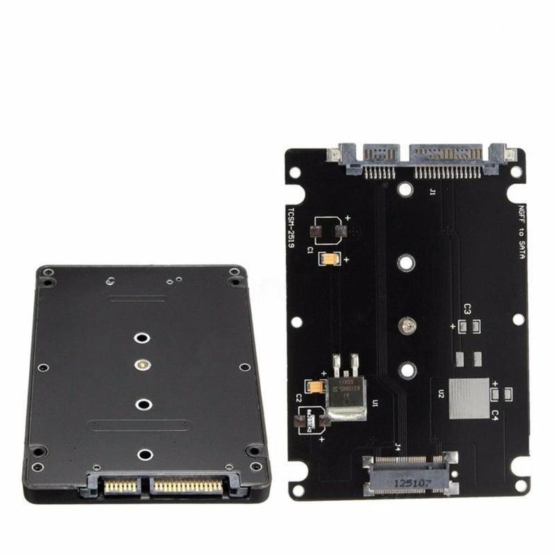 M.2 NGFF SATA SSD To 2.5 Inch SATA Adapter Card Case (B +M ) Key Socket M2 NGFF Adapter For PC Notebook Desktop Computer
