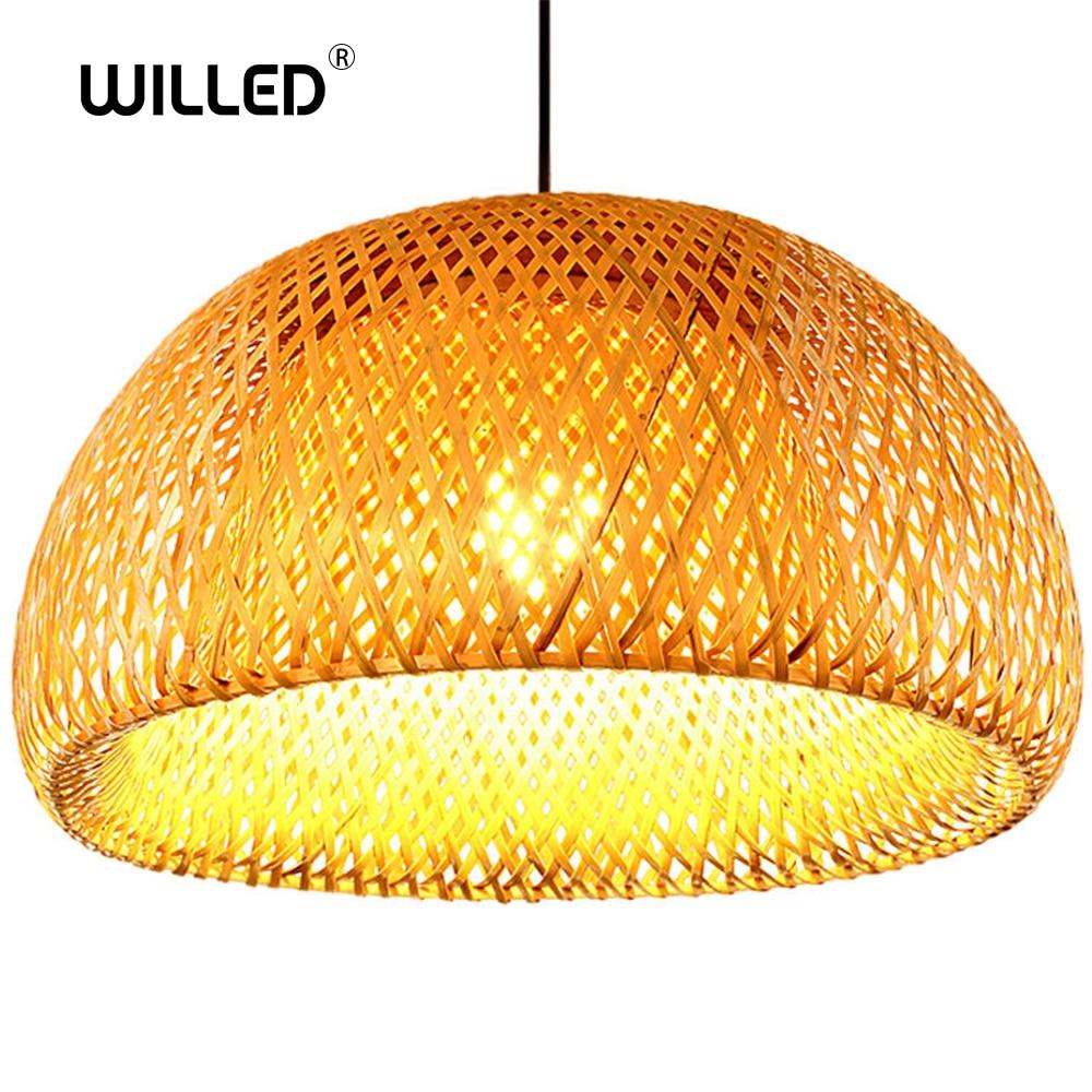 Chinese Handmade Pendant light Bamboo nest antique E27 lamps lanterns for teahouse living room hotel restaurant aisle Lamp|Pendant Lights| |  - title=