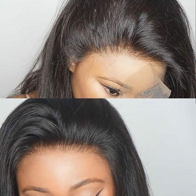 Door Lace Front Menselijk Haar Pruiken Straight 360 Full Lace Pruik Menselijk Haar Remy 150% Dichtheid 360 Kant Frontale Pruiken voor Zwarte Vrouwen