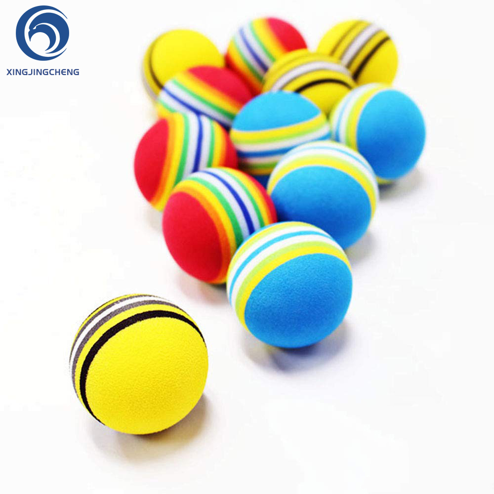12Pcs Colorful Rainbow EVA Foam Golf Balls For Indoor Swing Training Aids Blue Yellow Red Golf Practice Balls For Beginners
