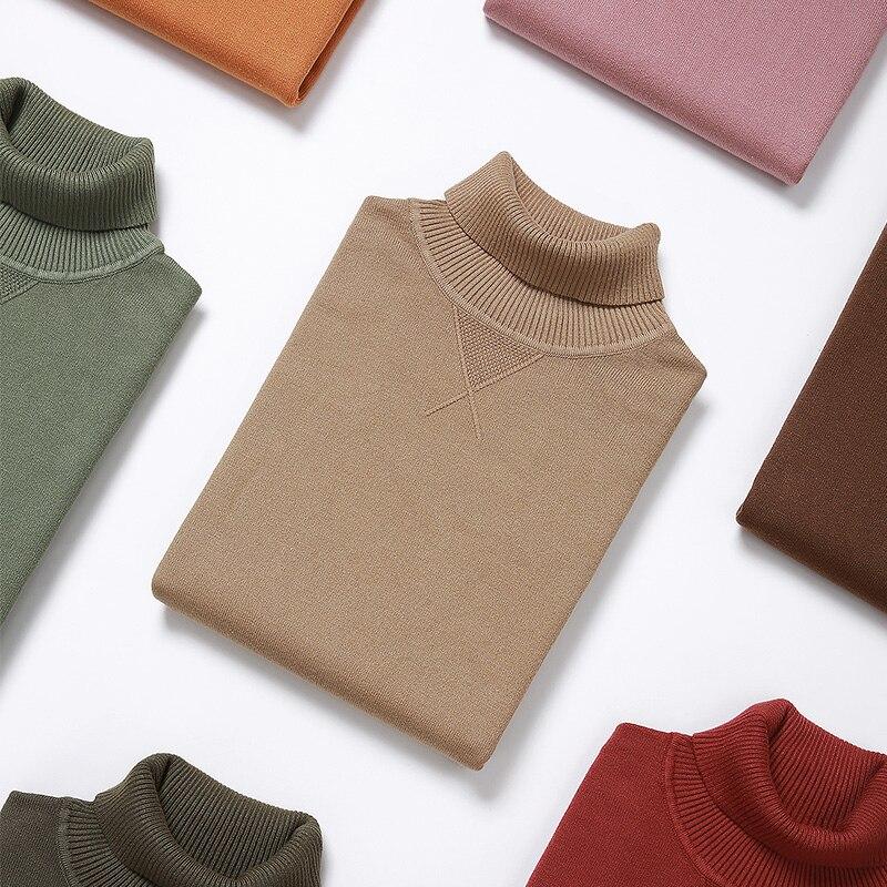 KUEGOU Brand Men Turtleneck Knitting Sweater Winter Warm Render Unlined Upper Garment Sweater  Cultivate One's Morality XZ-89002