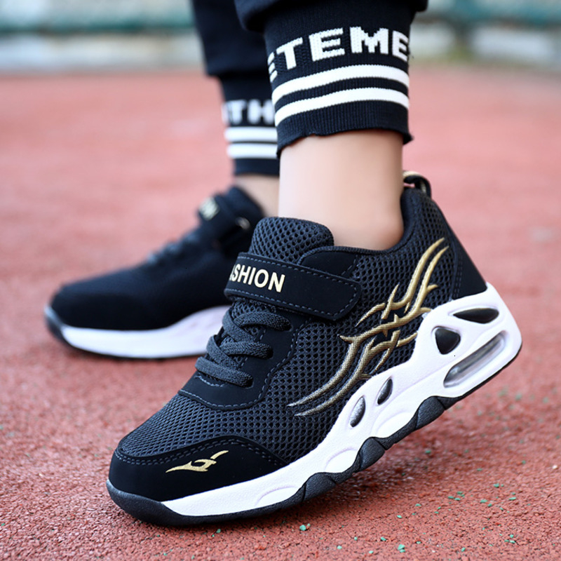 Kids Sneakers Boys Super Light Air Cushion Running Shoes Casual Outdoor Breathable Anti-slippery Sports Shoes Soft Jogging Flats