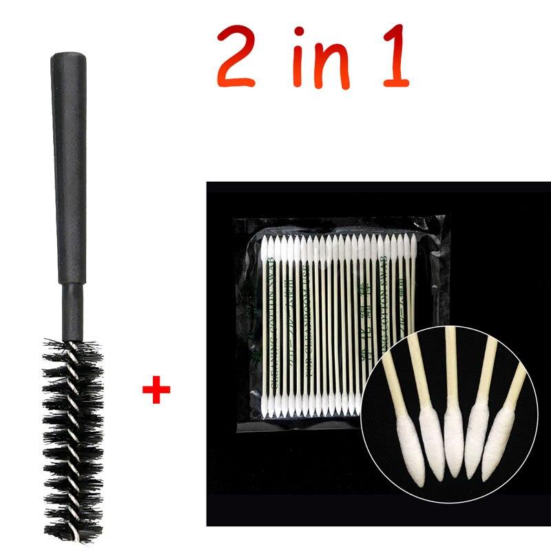 2 in 1 Baumwolle Einweg Tupfer Stick Für Airpods Airpod Fall Pinsel Reinigung Werkzeug Für AirdPods Kopfhörer Handy Kostenlos Port reiniger