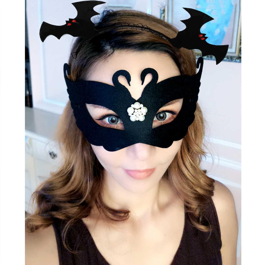 Готическое животное летучая мышь Ушная повязка Косплей повязки для волос Головные уборы карнавал детский день рождения Хэллоуин для женщин девочек