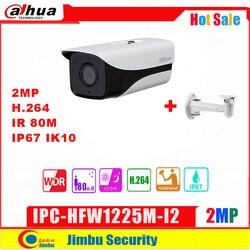 Dahua kamera IP 2MP IPC HFW1225M I2 H.264 IP67 ONVIF IR80M sieci nadzoru kamera typu bullet 3DNR dzień/noc|Kamery nadzoru|   -