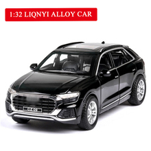 1/32 AUDI Q8 Alloy metal car Model diecast toys for kids collection/Die Cast Vehicles pull-back vehicle gift
