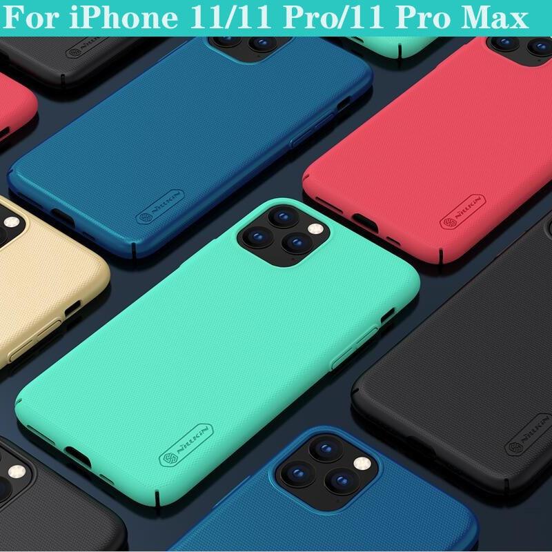 Nillkin caso para iphone 11 pro max (5.8/6.1/6.5) capa super fosco escudo duro pc telefone protetor de volta capa para iphone11 pro