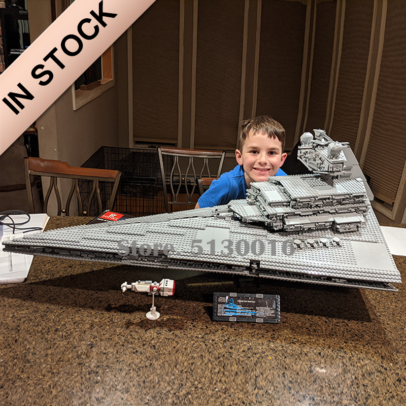 In Stock 75252 The Imperial Destroyer Star Series Wars Series UCS Model Building Blocks Toys 05027 10030 05028 81098 Toys