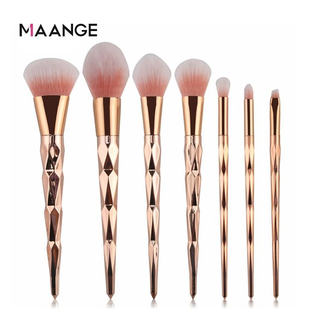 MAANGE 7/10Pcs Diamond Makeup Brushes Set Powder Foundation Eye Shadow Blush Blending Cosmetics Beauty Make Up Brush Tool Kits