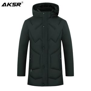 Image 2 - AKSR Mens Winter Jacket Coat Large Size Overcoat Parkas Thick Warm Hooded Winter Coat Men Windbreaker Casaco Masculino Inverno