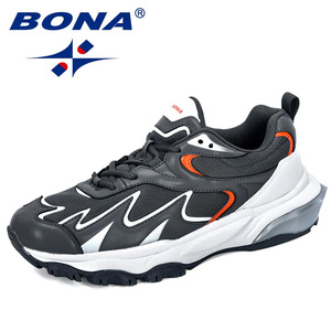 Image 3 - BONA 2019 New Popular Trendy Sneakers Men Shoes Casual Outdoor Comfortable Mesh Microfiber Breathable Man Footwear Non Slip