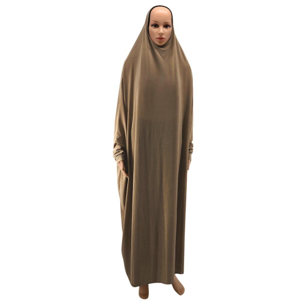 13 Colors Ramadan Prayer Hijab Loose Long Dress Muslim Women Full Cover Burqa Niqab Clothing Robe Abaya Cocktail Party Kaftan