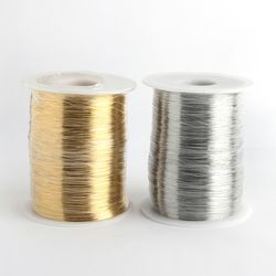 1kg 0,2/0,3/0,4/0,5/0,6mm venta al por mayor cubierta dorado plateado alambre de cobre blando muerto DIY rebordear envolver alambre de Metal artesanal