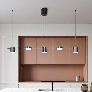 Image 4 - זהב או שחור נורדי פשוט תליון אורות חדר אוכל LED תאורת תליית גופי עבור בר שינה בית ארוך תליון מנורה