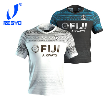 RESYO FOR 2020 FIJI 7'S Home/Away RUGBY JERSEY Sport Shirt S-5XL