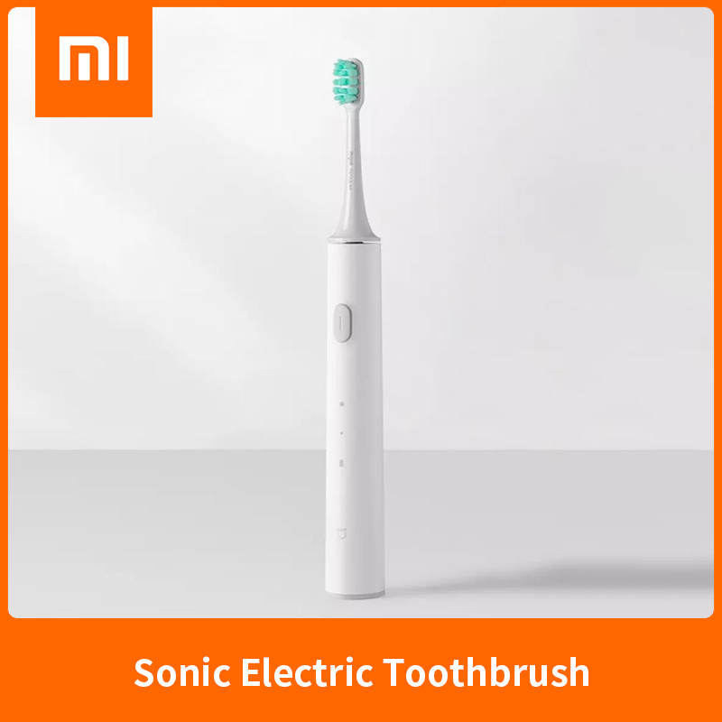 Original Xiaomi Mijia Sonic Electric Toothbrush T300 High Frequency Vibration Magneto 25 Day Battery Life White image