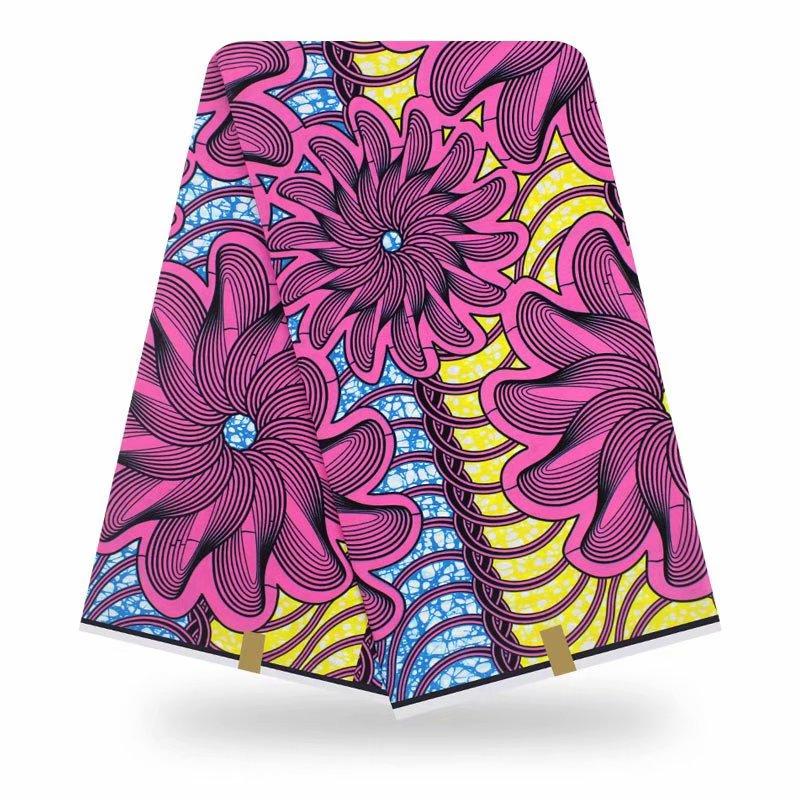Wax Prints Nigerian Ankara Fabric Wax Printed Cotton African Fabric Real Wax Fabric