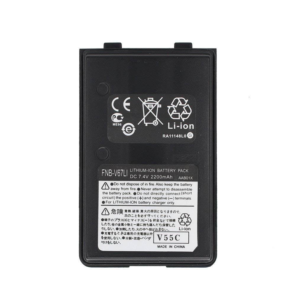 FNB-V67Li 2200mAh Li-ion Battery For YAESU FT-250R FT-270R FT-60R HX-370S Vertex VX120 VX150 VX-160 VX180 VX-414 VX-424 VXA120