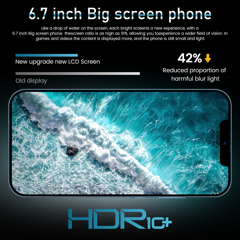I12 Pro Max Grensoverschrijdende 6.7 Inch 12 + 512Gb Smartphone Fabrikanten Directe Verkoop Ik Mobiele Telefoon Android10.0 4
