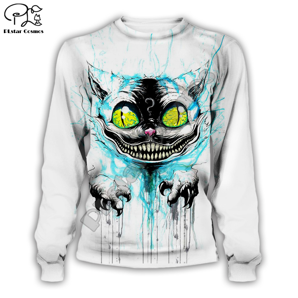 Halloween Alice Cheshire Cat print Men women 3d Hoodies Christmas Sweatshirt cartoon anime tshirt zipper pullover Tracksuit in Hoodies amp Sweatshirts from Men 39 s Clothing