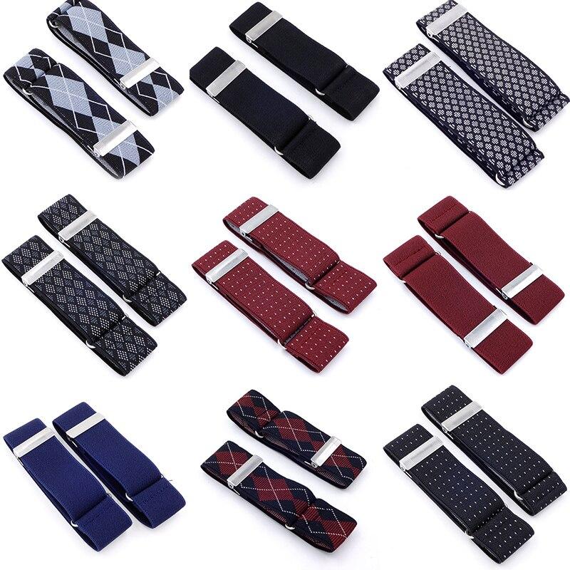 1 Pair   Men Shirt Adjustable Armband Sleeve Garter Bartender Cuff Holder Fashion Arm Band Hold Up