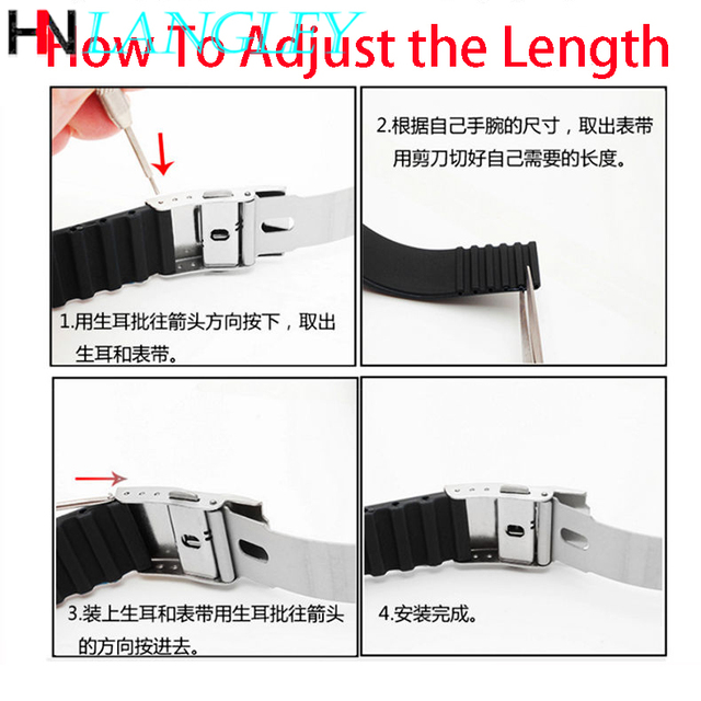 20mm 22mm Quick Release Silicone Watch Bands For Samsung Active 43mm 47mm for Fossil Watch Strap 18mm 24mm Rubber Sport Bands 6