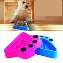 Собака медленное питание тренировочная миска в форме лапы щенка