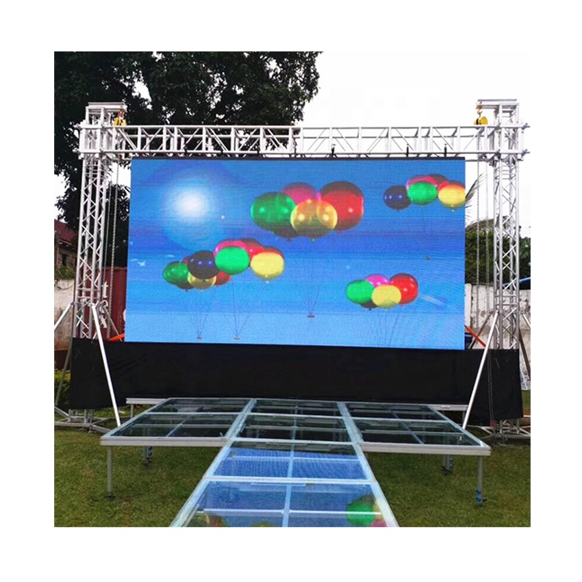 Outdoor P6 SMD 576*576mm Die Casting Aluminum Cabinet Rental Full Color HD LED Display For Advertising Billboard Screen