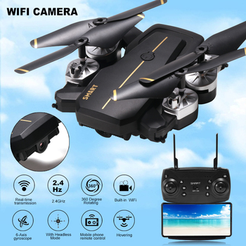 New Intelligent Foldable RC Drones With High HD WIFI Camera 360 Rotating FPV Quadcopter Stable Gimbal Headless Professional Dron