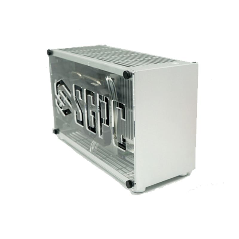 PK55 K55/i5 i7/2060 2080Ti Aluminium Legierung A4 ITX Spiel Gaming Computer Host Kleine Chassis htpc itx fall nas server bergbau rig