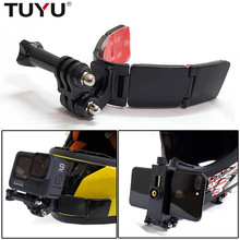 TUYU Full Face Helmet Chin Mount Holder for GoPro Hero 9 8 7 5Yi 4K Insta360 Camera Strap