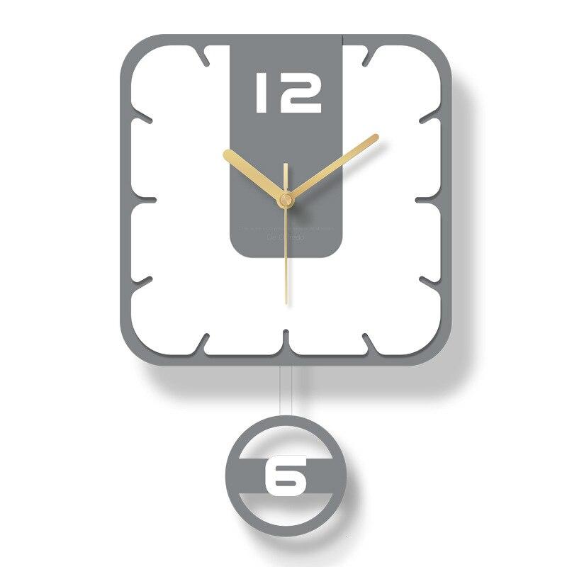 Nordic Pendulum Clock Wall Watch Mechanism Clocks Wall Home Decor Bedroom Home Silent Swing White Horloge Mural Home Decor SC531