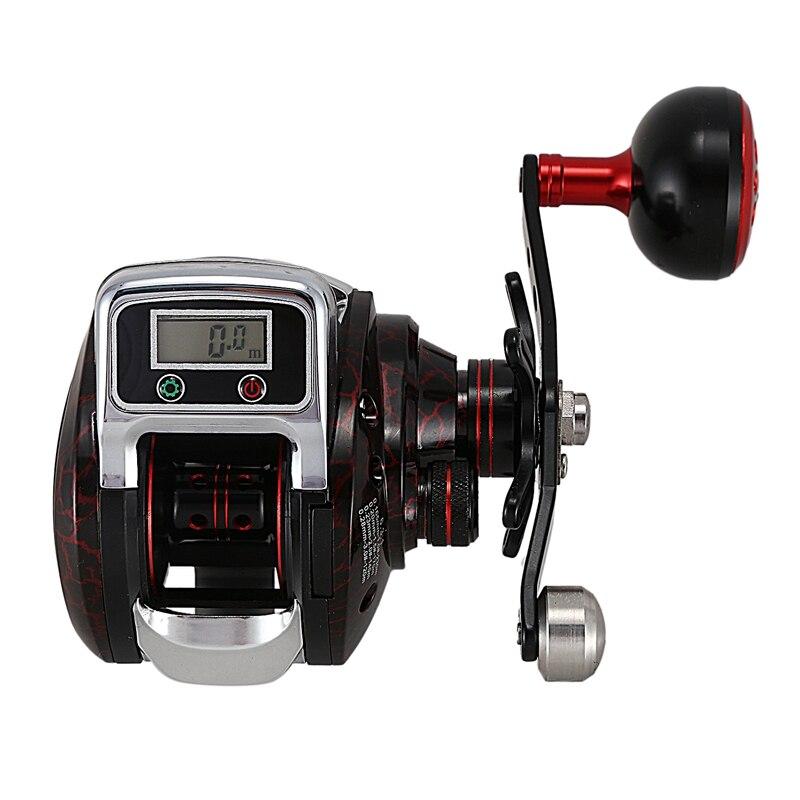 LS3000 Digital Counting Wheel Bait Casting Reel Rate Ratio 6.3:1 14+1Bb Max Drag 5Kg Large Thg Red Fishing Spool