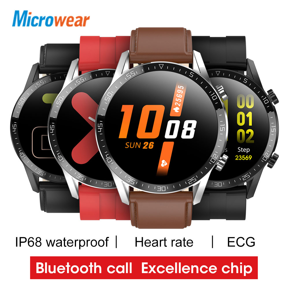 2020 New Microwear L13C Smart Watch ECG Heart Rate Blood Pressure Bluetooth Call Notifications Sync VS L12  L13 SmartWatch