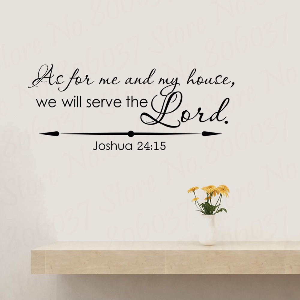 My Home 24 Christian Wall Decal Joshua 24:15 As For Me And My House We Will Serve The Lord Bible Verse Wall Decal Vinyl Home Decor Wl1808|wall Stickers| - Aliexpress