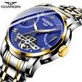 Мужские часы GUANQIN  механические Автоматические Мужские часы  деловые часы  водонепроницаемые часы для плавания  Relogio Masculino