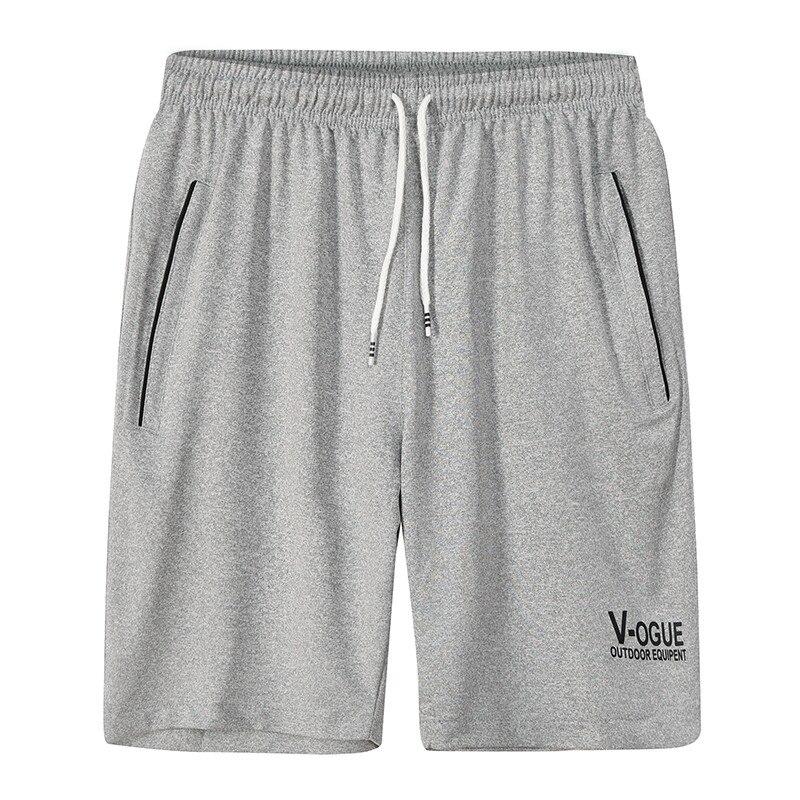 ZNG 2020  Summer Casual Beach Shorts Men Exercise Elastic Waist Sim Fit Solid Knee Length Bermudas Plus Size  Shorts L-5XL