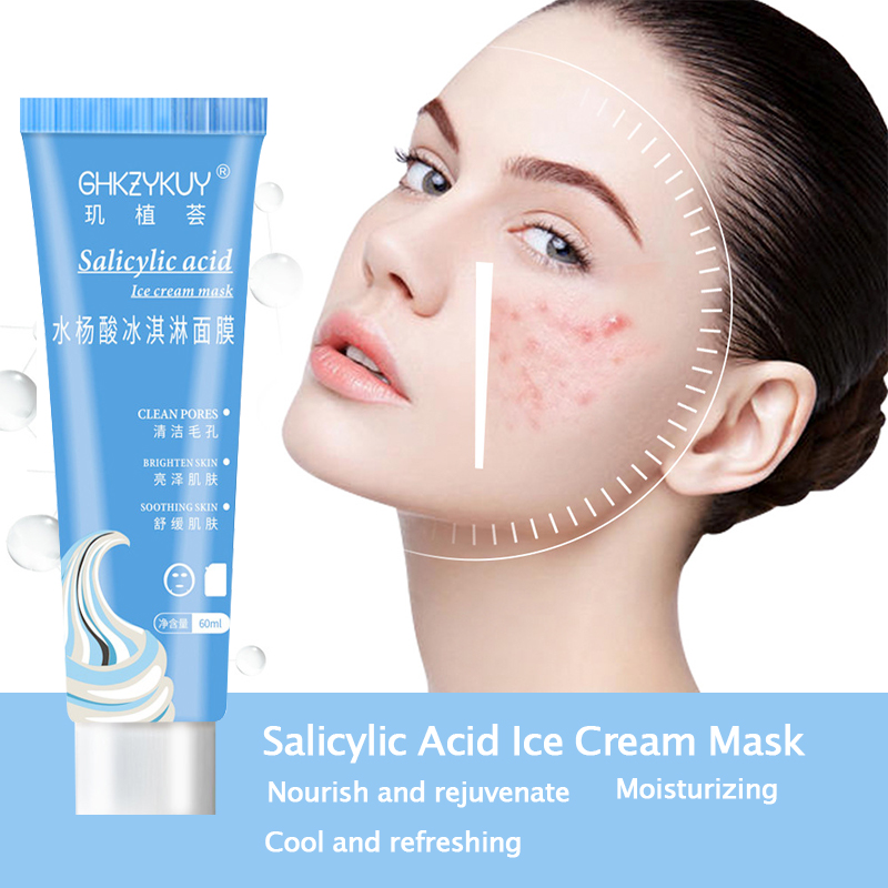 50ml Eis Maske Salicylsäure Ultra Reinigung Maske Sauber Essenz Für Hautpflege Heißer Verkauf TSLM2