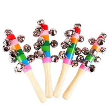 Grzechotki dla dzieci kolorowe drewniane instrumenty dzwonkowe 10 instrumenty perkusyjne dzwonki dzwonki zabawki dla niemowląt noworodki zabawki dla niemowląt 0-12 miesięcy tanie i dobre opinie Drewna CN (pochodzenie) Unisex G955 13-24 miesięcy 14 lat 3 lat 3 lat 8 lat 6 lat Geometryczny kształt NONE