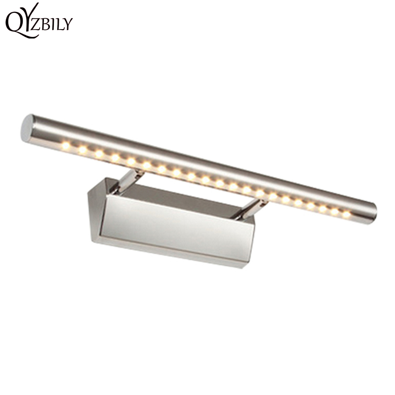 Modern fürdőszoba LED-es fali lámpa, ipari rozsdamentes acél - Beltéri világítás