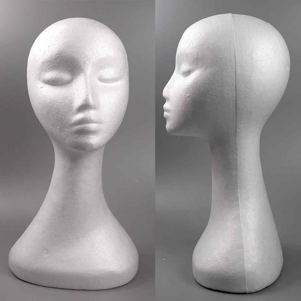 Female Mannequin Head Dummy Model Display Stand for Wig Jewelry Headphone Hat