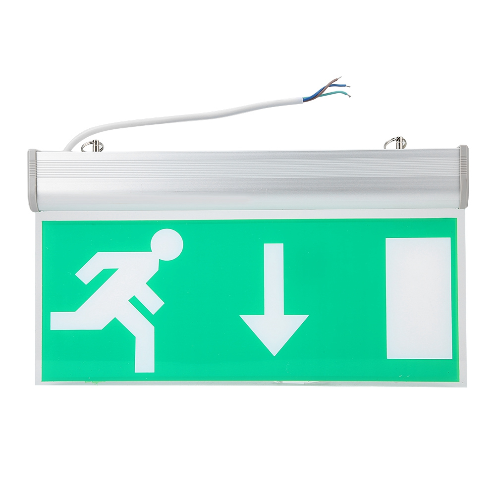 Safety LED Emergency Exit Lighting Sign Light Evacuation Indicator Light Automatic Detect Repair Lights Free Shipping