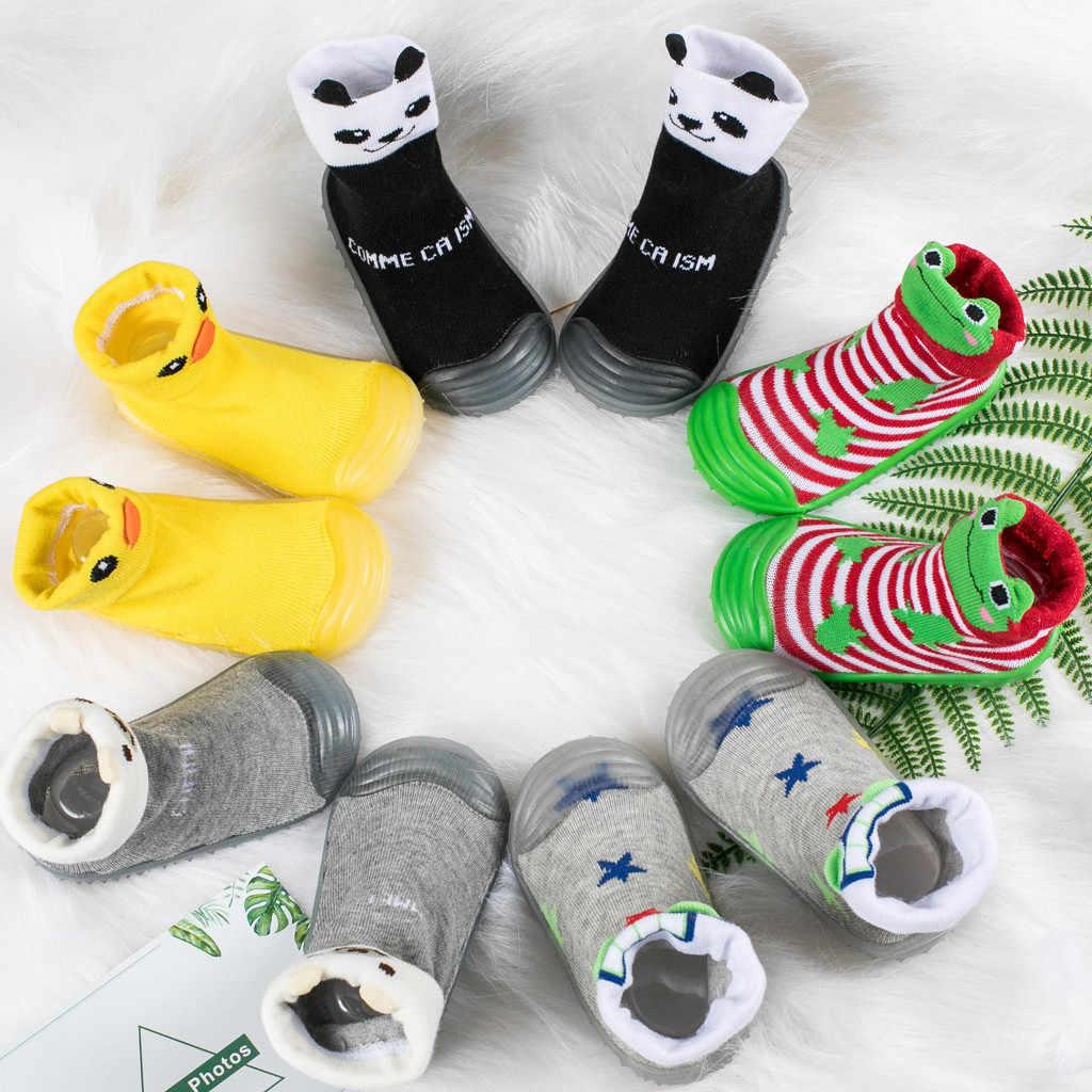Meisje peuter Baby Boy Schoenen Eerste Walker Pasgeboren Baby Cartoon Panda Pasgeboren Meisjes Jongens Anti-Slip Sokken Slipper Schoenen laarzen