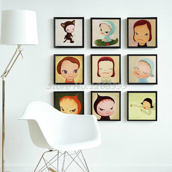 Yoshitomo Nara Sleepwalking Dolls Cartoon Baby Room Poster Art Canvas Painting Print Wall Picture Modern Home Decoration image
