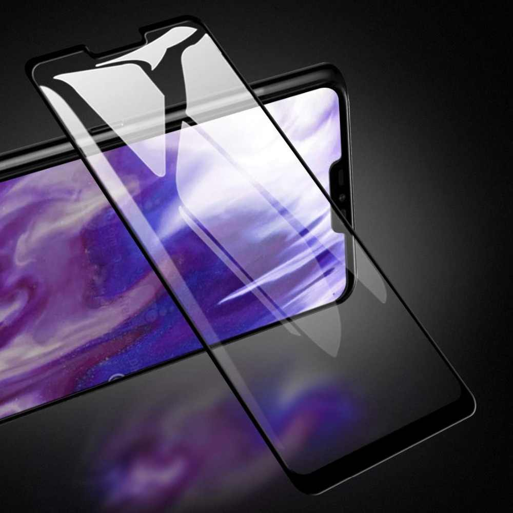 3D 9H Pieno Della Copertura Colla Nero Temperato Protezione Dello Schermo di Vetro Per lg V50 G7 Più Potenza Per lg G8 g8S ThinQ Pellicola Protettiva di Vetro